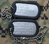 Placute de identificare armata S.U.A. - DOG TAG,  personalizate cu textul dorit d